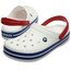Crocs Crocband Clogs Unisex White/Blue Jean